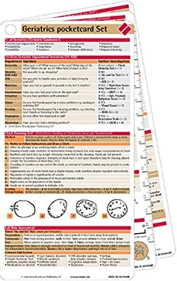 Geriatrics Pocketcard Set For Paramedics