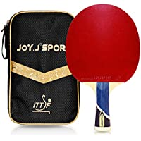 Joy.J Table Tennis Bat with case, Professional Pingpong Racket, TT Paddle with ITTF Approved Rubber, Perfect for Intermediate(Upgraded)
