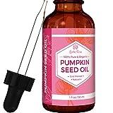 Olio di semi di zucca da Leven Rose - 100% puro biologico a pressione fredda Moisturizer naturale per capelli secchi pelle e le unghie - 1. oz