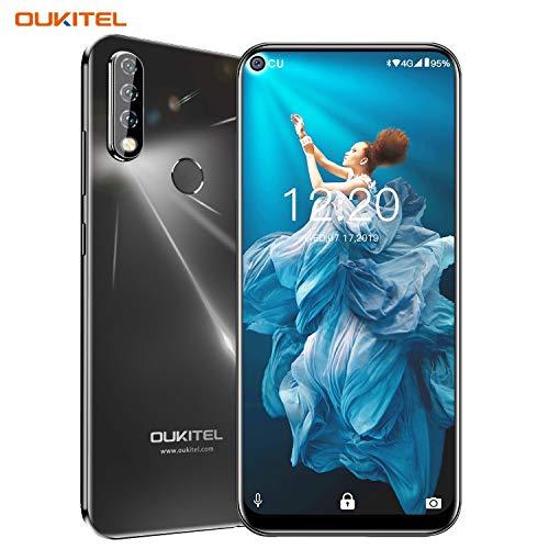 OUKITEL C17 Pro Dual 4G Smartphone Débloqué,Écran Perforé 6,35 Pouces,Trois Caméras Arrière,Android 9.0 Octa-Core 2.0GHz Téléphone Portable Pas Cher,4Go RAM+64Go ROM,Batterie 3900mAh (4Go+64Go-Noir)