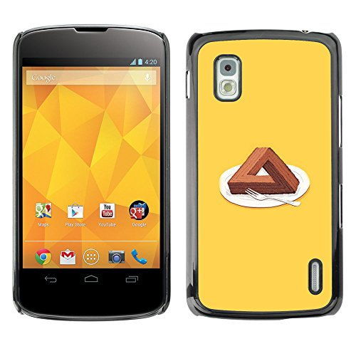 Bild Hartschalenkoffer PC Schutzhülle Hard Case Protective Cover for LG Nexus 4 E960 / Triangle-Kuchen / ()
