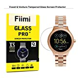 Fiimi Fossil Q Venture Screen Protector - Fiimi Tempered Glass Screen Protectors For Fossil Q Venture Watch,9 H Hardness,0.3mm Thickness,Made From Real Glass