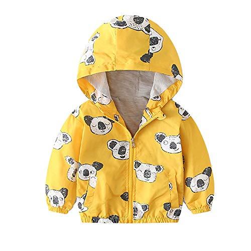 Topgrowth giacca bimbo neonata cappotto giacca autunnale cappotti con zip bambino koala felpa con cappuccio a prova di vento jacket
