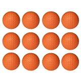 #7: WINOMO 12pcs Soft Practice Golf Balls PU Golfballs Indoor Training Golf Ball