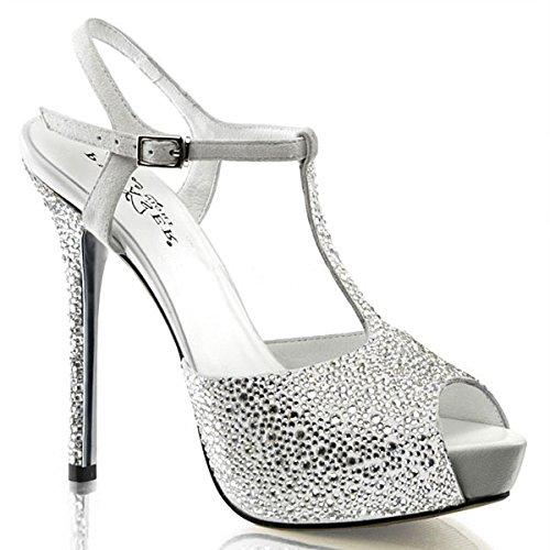 Heels-Perfect , Hi-Top Slippers femme Blanc - Multicolore