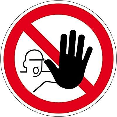 Verbotszeichen - Zutritt für Unbefugte verboten - Selbstklebende Folie