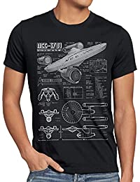 style3 NCC-1701 Blaupause T-Shirt Herren christopher pike trek trekkie star