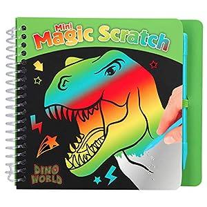 Depesche 10711 - Libro para Colorear Magic Scratch Book, Dino World