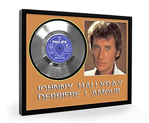 Johnny Hallyday Derriere L'amour Framed Disque d'argent Record Vinyl (C1)