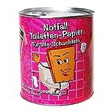Scherzartikel Notfall Toiletten-Papier für alte Schachteln in Blechdose lustiges Geburtstagsgeschenk oder Gagartikel für Party oder andere Anlässe