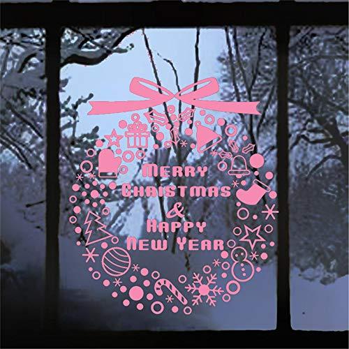 jiuyaomai Frohe Weihnachten glückliche Zitate wandaufkleber raumdekor DIY Geschenk Home Decals Festival Kunst Poster 41x47 cm