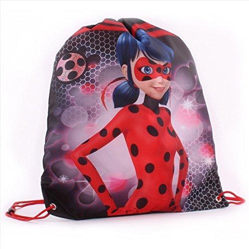 Vadobag 666_3155 Miraculous Tales of Ladybug - Bolsa de Deporte, Color Negro