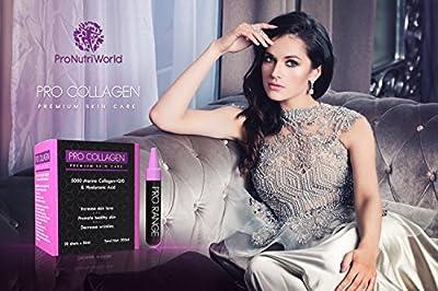 Collagen 5000mg, Hyaluronic Acid, Q10 & Vitamin C | Collagen Shots by ProNutriWorld Skin Care Supplement for Women & Men