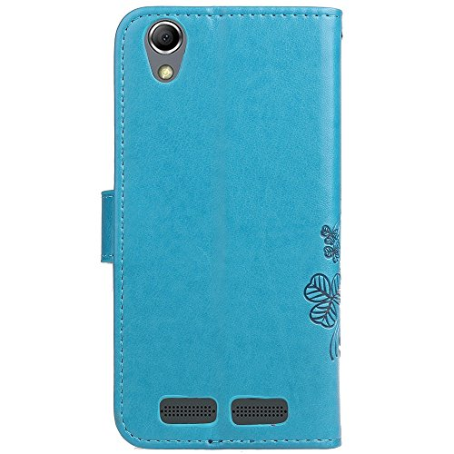 EKINHUI Case Cover Double Magnetic Back Sucktion Retro Style PU Leder Flip Stand Case mit Kickstand und Wallet Pouch Funktion für Lenovo K10 ( Color : Purple ) Blue