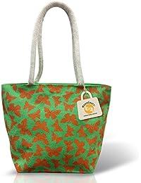 Handcraft Multi Jute Shoulder Bag, High Quality Printing Design. Fancy, Designer, Affordable Price.