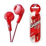 UKDapper JVC HAF160 Stereo Kopfhörer Gumy rot Bass Boost für iPod, iPhone, MP3 und Smartphone