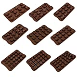 9pc Candy Molds, Chocolate Molds, Silico...