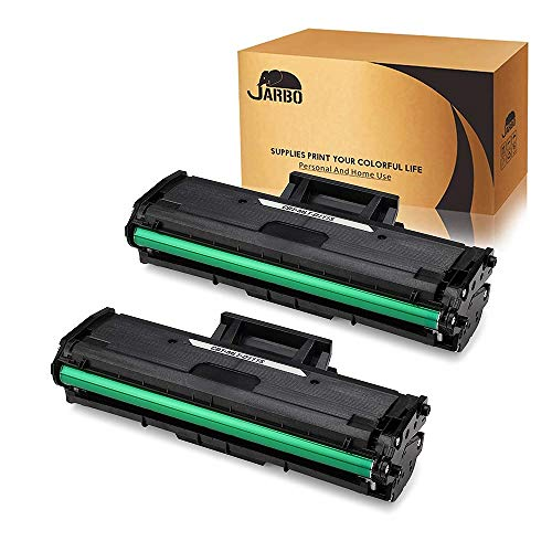 JARBO MLT-D111S Toner Compatibile per Samsung MLT-D111S D111S per Samsung Xpress SL-M2026W SL-M2026 SL-M2020W SL-M2020 SL-M2022 SL-M2022W SL-M2070 SL-M2070W SL-M2070FW SL-M2078W,Nero, Confezione da 2