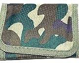 Portafoglio motivo camouflage con scomparto portamonete con cerniera (verde chiaro)