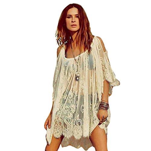 Damen Sommerkleider Frauen Sommer T-Shirt Kleid Weiß Casual Lange Ärmel Minikleid Großen Größen Abendkleid Partykleid Cocktailkleid Kurzes Strandkleid Beach Valentinstag Dress (2XL, Sexy Weiß)