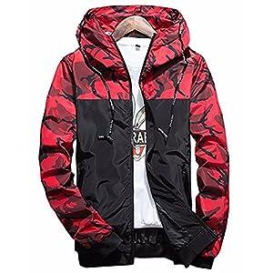 Qingxian Herren Frühling Herbst Jacke Trenchcoat Camouflage Slim Jacke Männer Hoodies Jacke