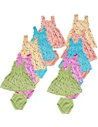 Feel Trendy Frock for Baby Girls(3to6MONTHS){Pack of10}from phoenix99