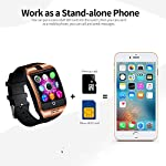 Bluetooth Smart Watch With Camera Touch Screen Smartwatch Unlocked Watch Cell Phone With Sim Card Slot Pedometer Fitness Tracker For Android Phones Samsung LG HTC Huawei Sony Men Women Kids