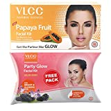 #7: VLCC Papaya Fruit Facial Kit, 60g with Free Party Glow Facial Kit, 60g