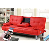 Sleep Design Manhattan Bluetooth Sofa Bed - Red