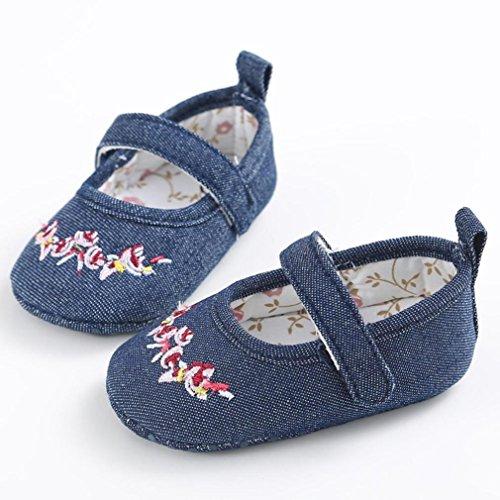 krabbelschuhe Knoten Babyschuhe Babyschuhe Bootsschuhe Sneaker Longra 0~ Baby Sohle Bogen Schuhe Monate Blue lauflernschuhe weiche Canvas rutschfest M盲dchen 18 rqqB7I