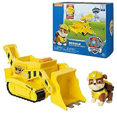 PAW PATROL 6045902 Rubble's Bulldozer - Perro de Goma por Spin Master