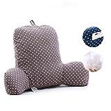 GH&YY Komfortable Baumwolle lordosenstütze Kissen, Bett Kissen Stuhl Lesung-Kissen Support für Kissen zurück T-förmige einfügen Sofa Sessel zurück unterstützt-H 55x42x20cm(22x17x8)