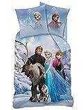 BERONAGE Biber Kinder Wende Bettwäsche Frozen - Die Eiskönigin 135 x 200 cm 80 x 80 cm, 100% Baumwolle in Flanell Olaf Anna Elsa Sven Kristoff