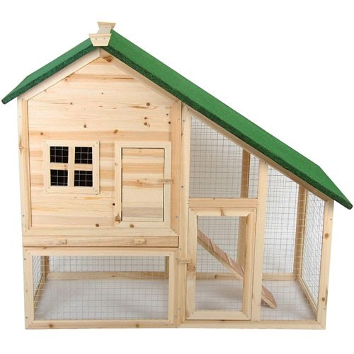 Leopet® Kaninchenstall Hasenkäfig Meerschweinchenkäfig, 2 Etagen, Holz