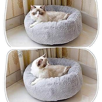 Coussin Moelleux Moelleux Confortable pour Le Sommeil, soulagement orthopédique pour Sac de Couchage et Sommeil amélioré, Fond antidérapant, Lavable en Machine (L-70CM, Light Grey)