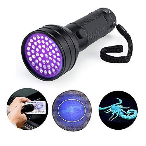 BESTSUN 51 LED UV Taschenlampe Gegenlichtbeleuchtung ultraviolette Strahle Handlampe für Spek Scorpions und Bed Bugs, Fälschungen, A / C Lecks und Pet Flecken -