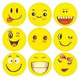 ECENCE 12x Gomme à Effacer avec émoticône Gomme Smiley Smile Enfants Cadeau d?Anniversaire Enfant 13010201