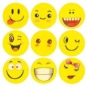 ECENCE 12x Emoji Radiergummi Radierer Smiley Smile Kinder-Geburtstag Mitgebsel Kind 13010201