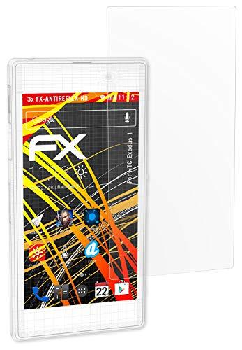 atFolix Schutzfolie kompatibel mit HTC Exodus 1 Displayschutzfolie, HD-Entspiegelung FX Folie (3X)