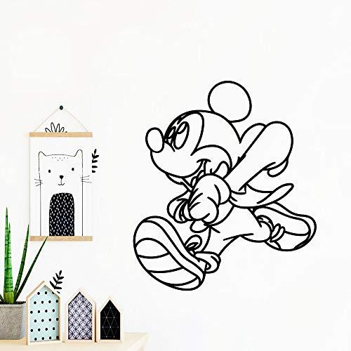 Tianpengyuanshuai Adesivi murali Moderni Mouse da Baseball Adesivi creativi in   Vinile personalità Adesivi murali Accessori per...