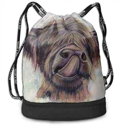 tick Out Tongue and Lick Nose Drawstring Backpack Sports Gym Cinch Sack Bag for Gym ()