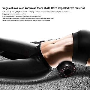 Surenhap Rodillo para automasaje Rodillo Unisex para Yoga 33 * 14 cm Rodillo de Masaje para Yoga Masaje Fascia Tensión de Entrenamiento Adecuada para la Espalda Piernas Cuello Hombros, etc - Azul