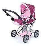 Bayer Design 13953AA - Kombi-Puppenwagen Maxi, rosa, pink mit Muster