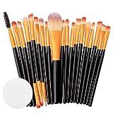 Quaan 20 pcs Makeup Brush Set Tools Make-up Toiletry Kit Wool Make up Brush Set Cosmetics Brush Classic Simplicity Beauty Brush