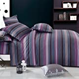 Blancho Bedding - [Vineyard Dream] 100% Cotton 4PC Duvet Cover/Duvet Cover Combo (UK Double Size)/ (US Full Size)