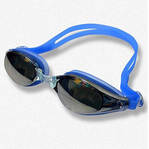 Sunny Honey Schwimmen-Schutzbrillen, Die Flaches Licht-Schutzbrillen-Wasserdichte Anti-Nebel Sommer-Erwachsene Männer Und Frauen Überziehen (Farbe : Blau)