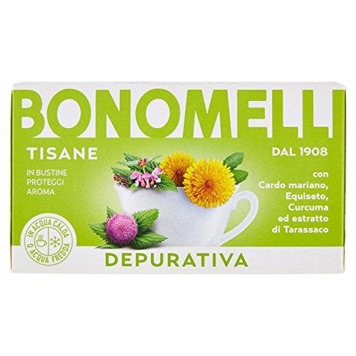 Bonomelli - Tisana depurativa - 12 confezioni da 16 filtri [192 filtri]
