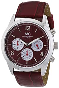 MC Timetrend Herren-Armbanduhr Chronograph Quarz Leder 27253