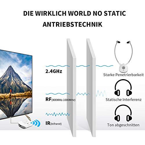 Artiste APH100 Digitale Wireless Hörgerät-Kopfhörer für alle Audiogeräte (Inkl. Wireless Sender und 2er Pack Akkus) - 2