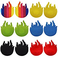 Cosfan 6 Pairs Disposable Sexy Adhesive Flame Pasties Nipple Cover Stick on Bra